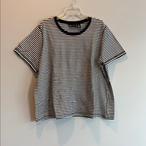Black and whit striped shirt